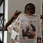 CATPC member Matthieu Kasiama on the front page of NYT arts section, New York, 2017 (©CATPC)