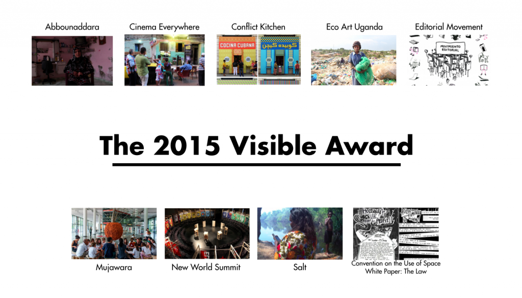 2015 Visible Award: the shortlisted projects