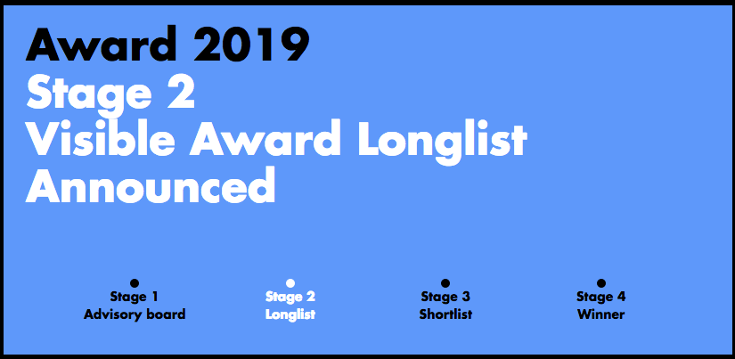 The 2019 Visible Award longlisted projects